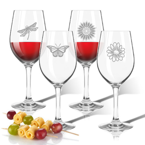 Tritan Wine Stems 12 oz (Set of 4): Garden