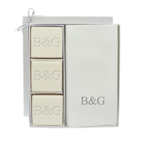 Eco-Luxury Courtesy Gift Set - Silver Initial & Initial