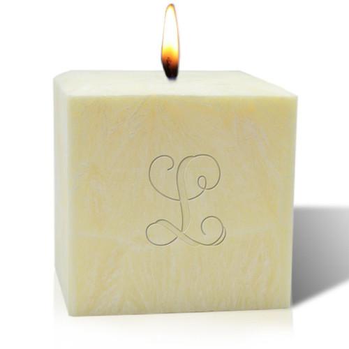 """4"""" Citrus Escape Palm Wax Candle - Initial"""