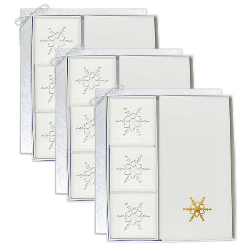 Signature Spa Courtesy Gift Set - Gold Snowflake (Set of 3)