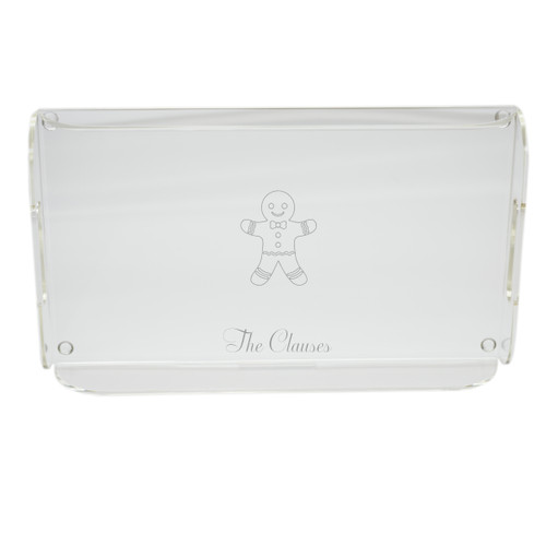 Personalized Acrylic Serving Tray - Gingerbread Man