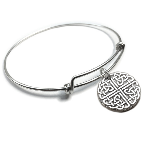 Celtic Knot Circle Forever Charm Bangle
