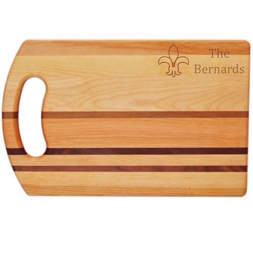 """Integrity Bread Board 14"""" X 9"""" - Personalized Fleur De Lis"""