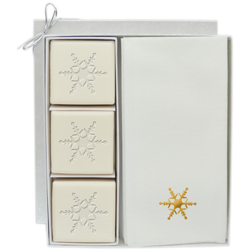 Eco-Luxury Courtesy Gift Set - Gold Snowflake
