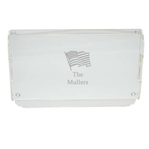 Personalized Acrylic Serving Tray - Flag
