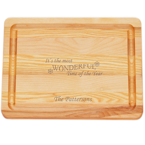 """Small Master Cutting Board 10"""" X 7.5"""" - Personalized Wonderful Time of Year"""