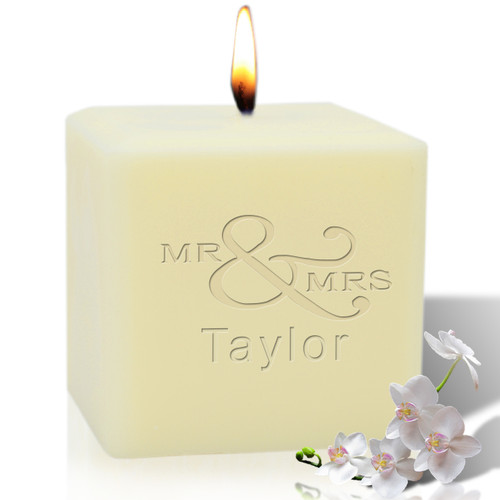 "4"" Soy Pillar Candle - Mr & Mrs"