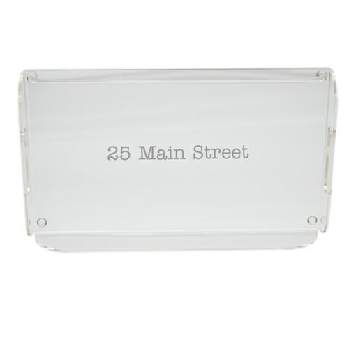 Personalized Acrylic Serving Tray - Address