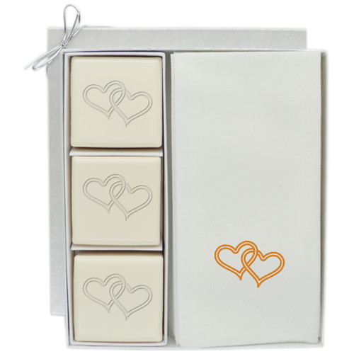 Eco-Luxury Courtesy Gift Set - Double Heart with Gold