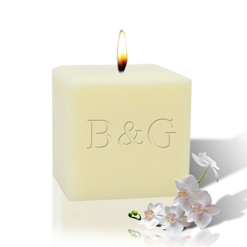 """3"""" Soy Pillar Candle - Initial & Initial"""