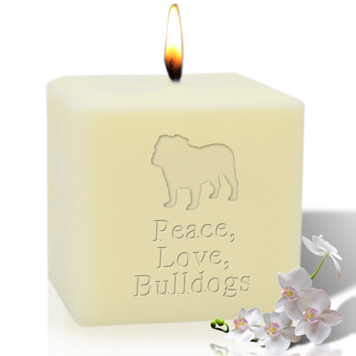 "4"" Soy Pillar Candle - Bulldog"
