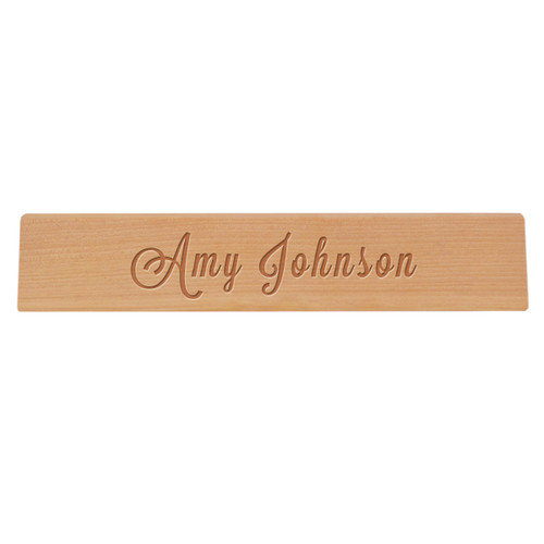 Personalized Wooden Desk Plate -PERSONALIZED