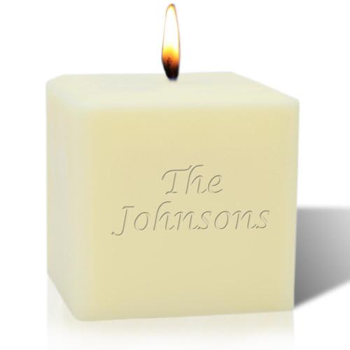 "4"" Soy Pillar Candle - Name or Phrase"