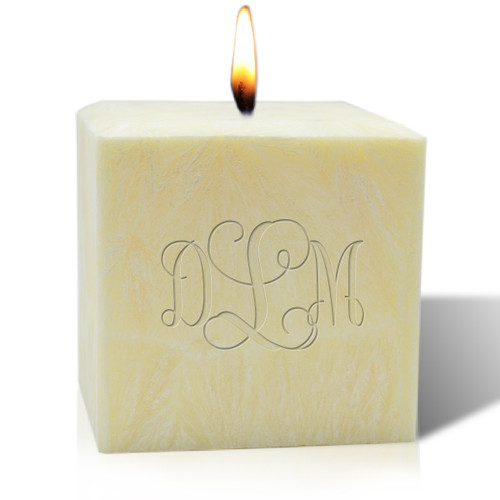 "4"" Pure Aromatherapy Palm Wax Candle - Monogram"