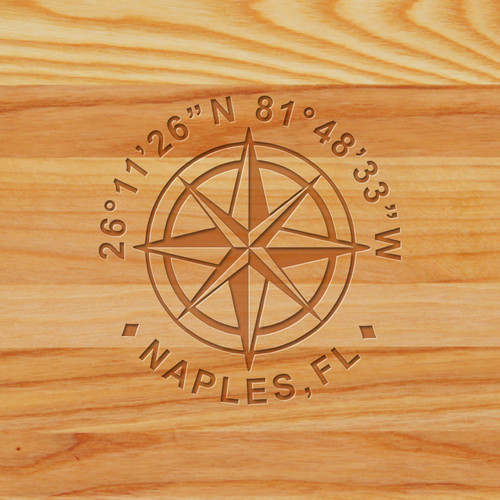 Cutting Board - Personalized (GPS COORDINATES)