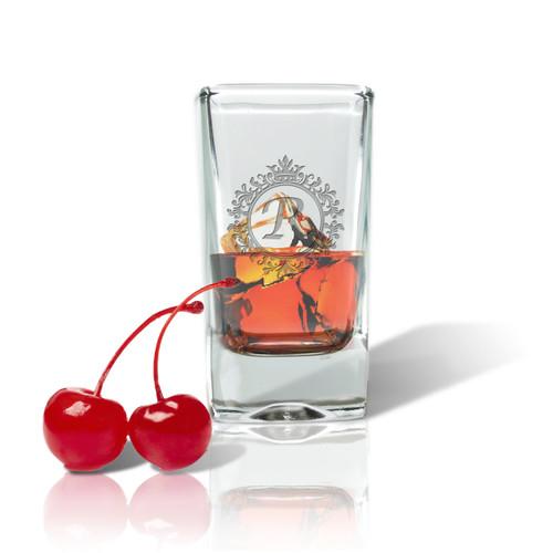 ICON PICKER Personalized Shot/Dessert Glass(Initial/Monogram Prime Design)