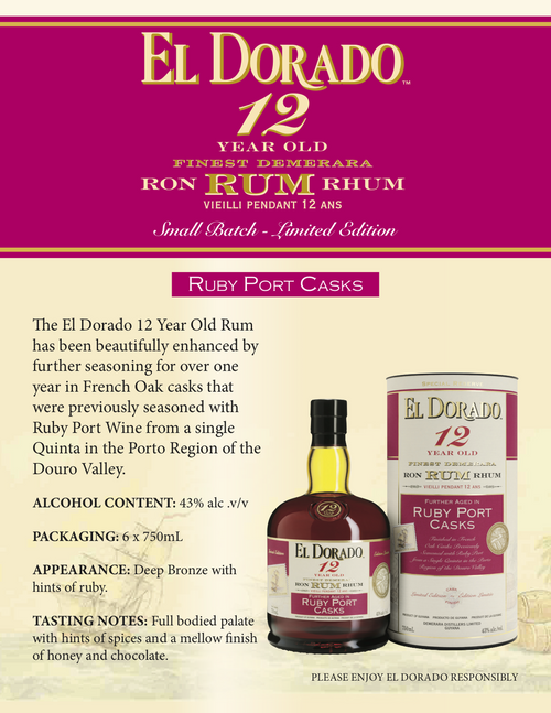 El Dorado Ruby Port Rum 12 Year old