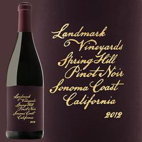 Landmark Vineyards Spring Hill Pinot Noir 2012