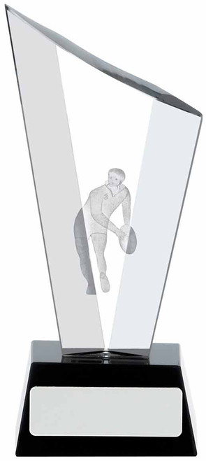 LUNAR SHARD RUGBY GLASS CRYSTAL AWARD