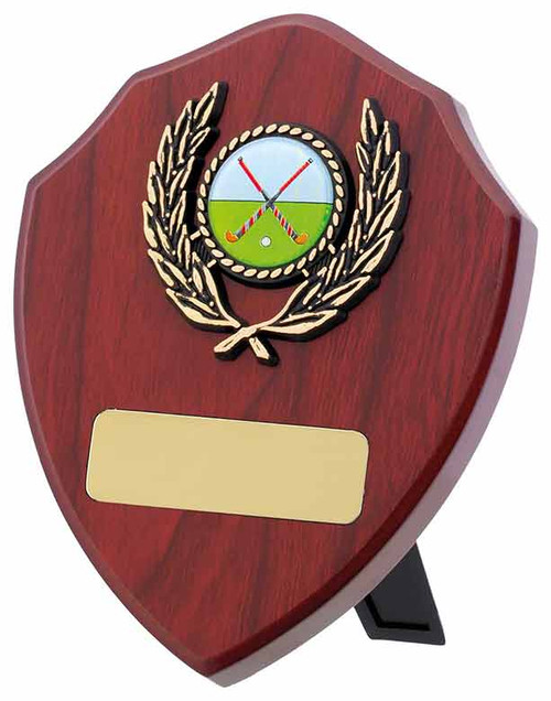 Mahogany multisport or activity wooden shield available in 4 sizes with FREE engraving!
