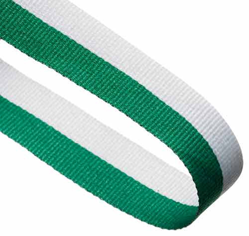 GREEN & WHITE RIBBON