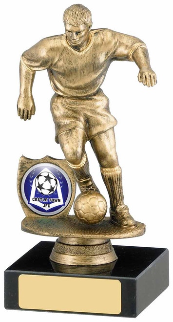 ANTIQUE GOLD FOOTBALLER AWARD