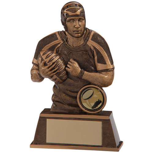 Protector Rugby player and ball trophy award