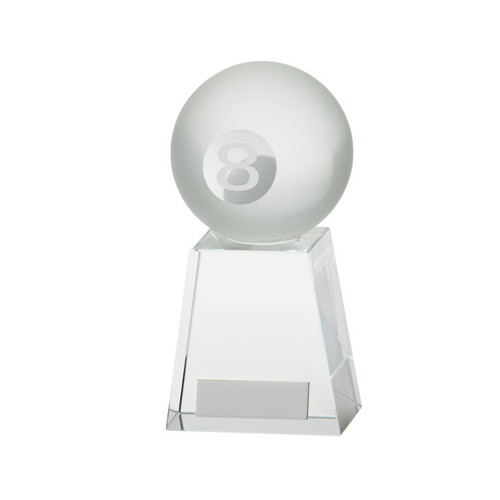 Stylish Pool Crystal trophy 8 ball award