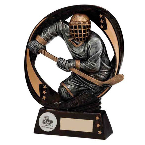 Typhoon ice hockey award Superb team player in action trophy