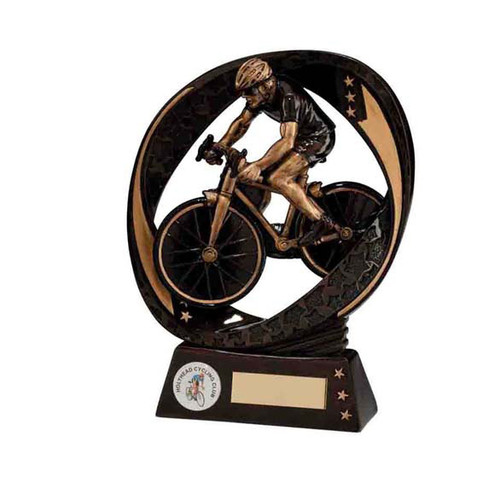 Typhoon cycling award male bicycle cyclist prize trophy