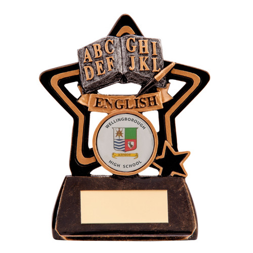 Little Star budget English award cheap affordable subject academic trophy