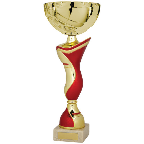 King classic cup gold and red modern affordable award in 5 sizes