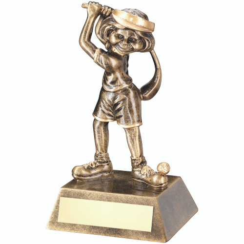 A fun and comic trophy, this novelty female golf award would make a fabulous gift.