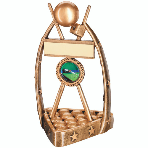 A modern and quirky pool and snooker award from 1stPlace4Trophies with FREE engraving