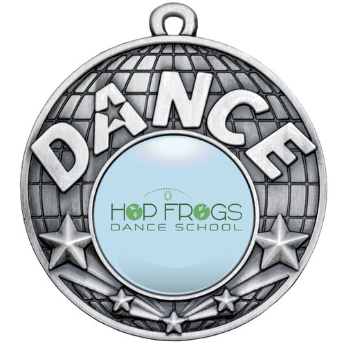50mm Silver Dance Medal available with FREE engraving