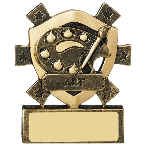Star Shield Art Trophy Award perfect to celebrate school, college, university or competition success