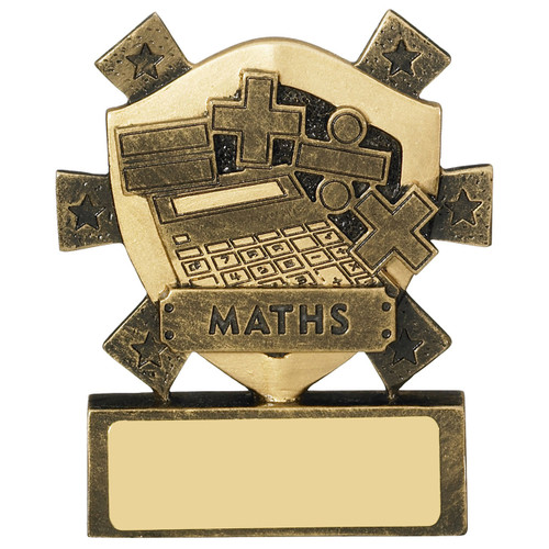 Star Shield Maths Academic Budget Cheap Mini Award with FREE engraving!