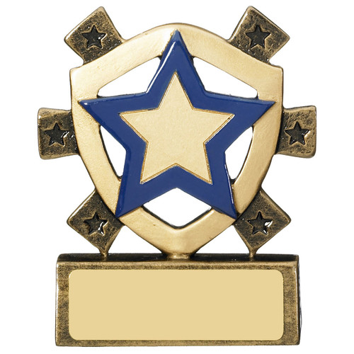 Blue Star Award RM681 budget great value school house or sports event trophy with FREE engraving!