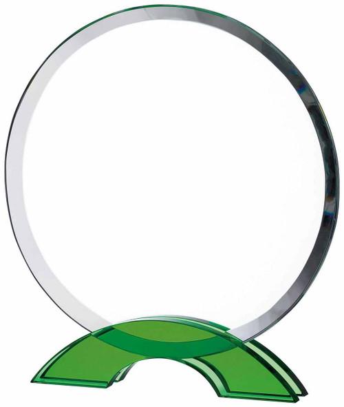 CIRCULAR GLASS WITH GREEN BASE AWARD