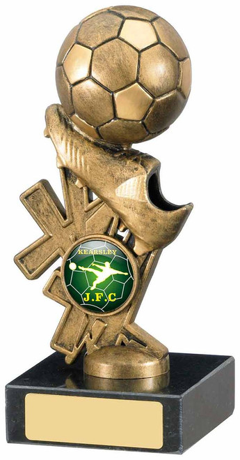 FOOTBALL BOOT AND BALL TROPHY