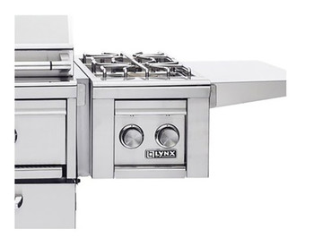 Lynx Cart Mounted Double side burner -fits all grill sizes