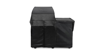 "30"" Grill or Smoker Carbon Fiber Vinyl Cover (Mobile Kitchen Cart)"