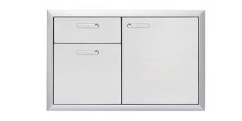 """Lynx 36"""" Storage door & double drawer combination"""