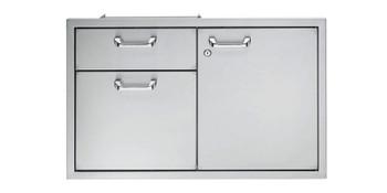 """Lynx 42"""" Storage door & double drawer combination"""