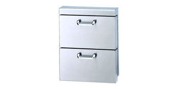 """Lynx Utility Drawers - Two Extra large drawers w/ 5"""" offset handles."""