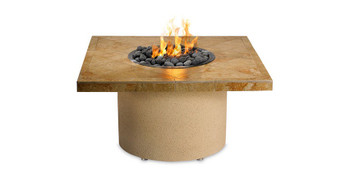 Sedona Sandalwood Square Fire Pit with Refreshment Bowl