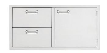 "Sedona 42"" storage door & double drawer combo - Sedona series"