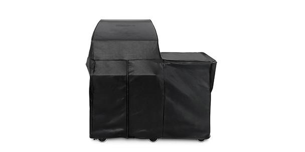 "30"" Grill or Smoker Carbon Fiber Vinyl Cover (Mobile Kitchen Cart)"