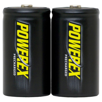PowerEx PreCharged Rechargeable D Batteries (2-Pack) - 10,000mAh, Ultra Low Self-Discharge