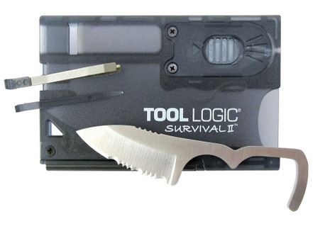 Tool Logic SVC2 Survival Card II (w/ Fire Starter & Flashlight)